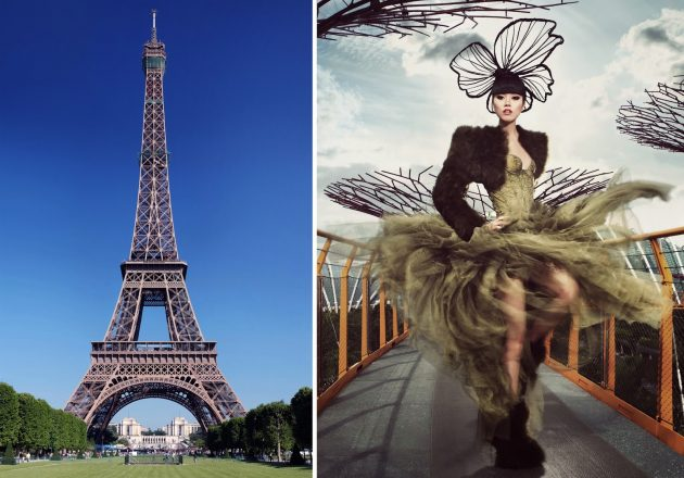 Jessica Minh Anh to turn the Eiffel Tower into a catwalk