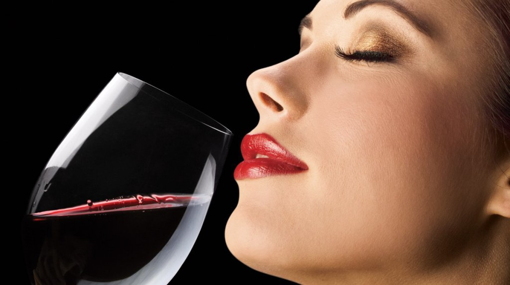 red wine woman
