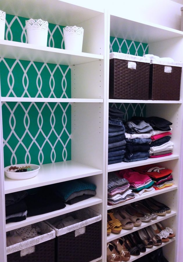 Ikea+Billy+Bookcases+Closet+Makeover7