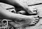 άμμος στα πόδια