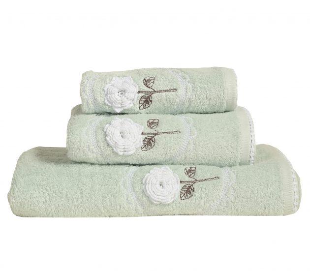 Πετσέτες Roses, σετ 3τμχ
