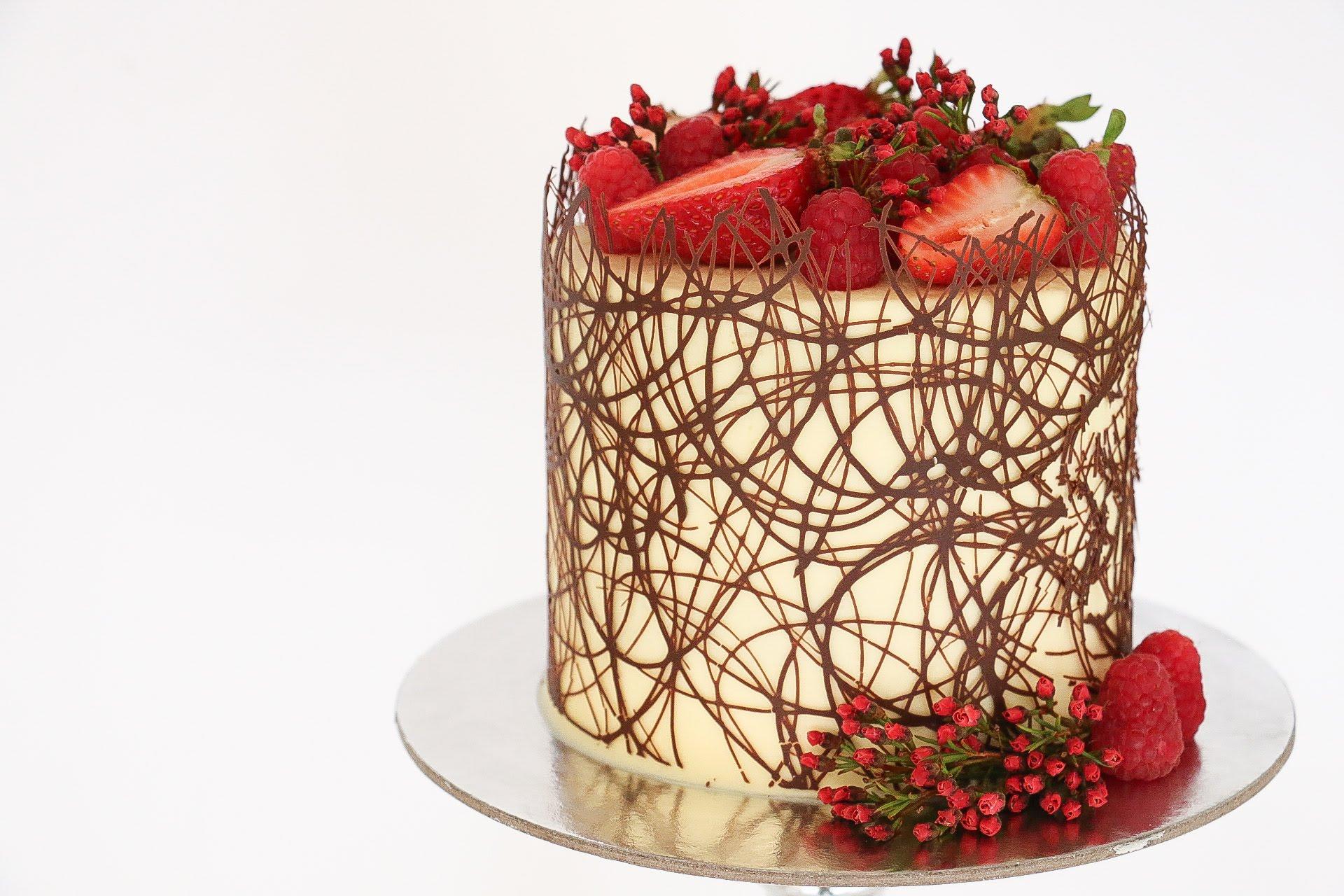 Melting Chocolate Gold Cake Gif