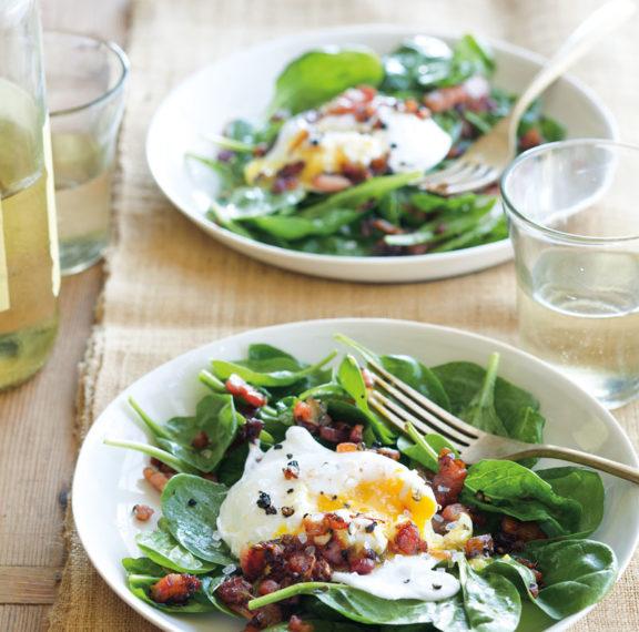 σαλάτα-με-μπέικον-σπανάκι-και-αυγά-ποσ