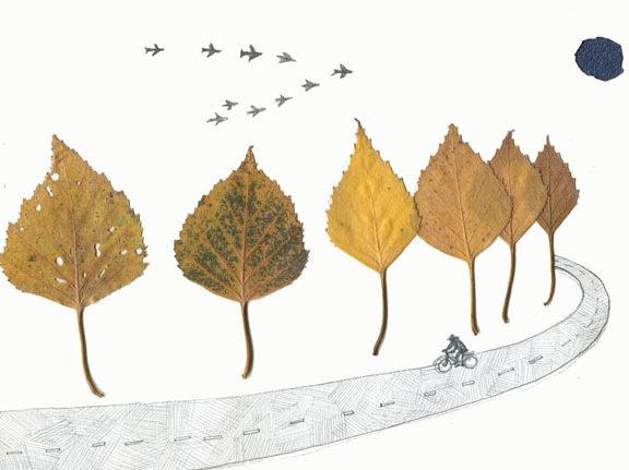 diy-χειμωνιάτικο-τοπίο-με-φύλλα