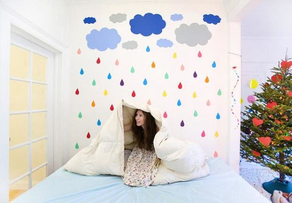 τέχνη-και-χαρτί-colorful-paper-art-by-katie-sokoler-με-ανοιξιάτικη