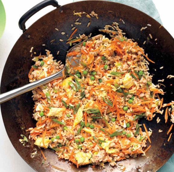 καλοκαιρινό-ρύζι-στο-τηγάνι-με-κολοκυ