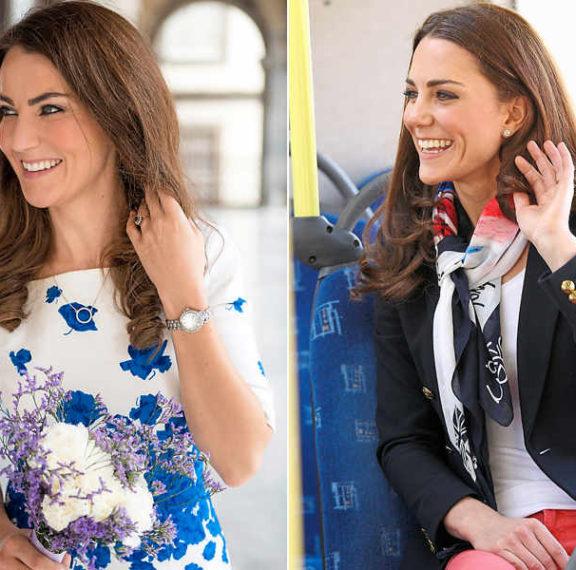 Βρείτε τη διαφορά: Εργάζεται ως σωσίας της Κέιτ Μίντλετον με κέρδη 9.000 λίρες την εβδομάδα!