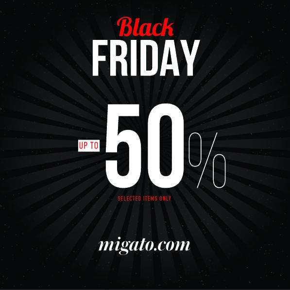 542c5f135c Οι προσφορές Black Friday στη MIGATO ξεκινούν αυτή την Παρασκευή 24  Νοεμβρίου και σας δίνουν τη δυνατότητα να αποκτήσετε τα αγαπημένα σας  σχέδια από τη ...