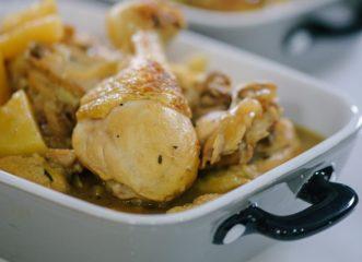 κοτόπουλο-με-πράσινο-πιπέρι-εστραγκ