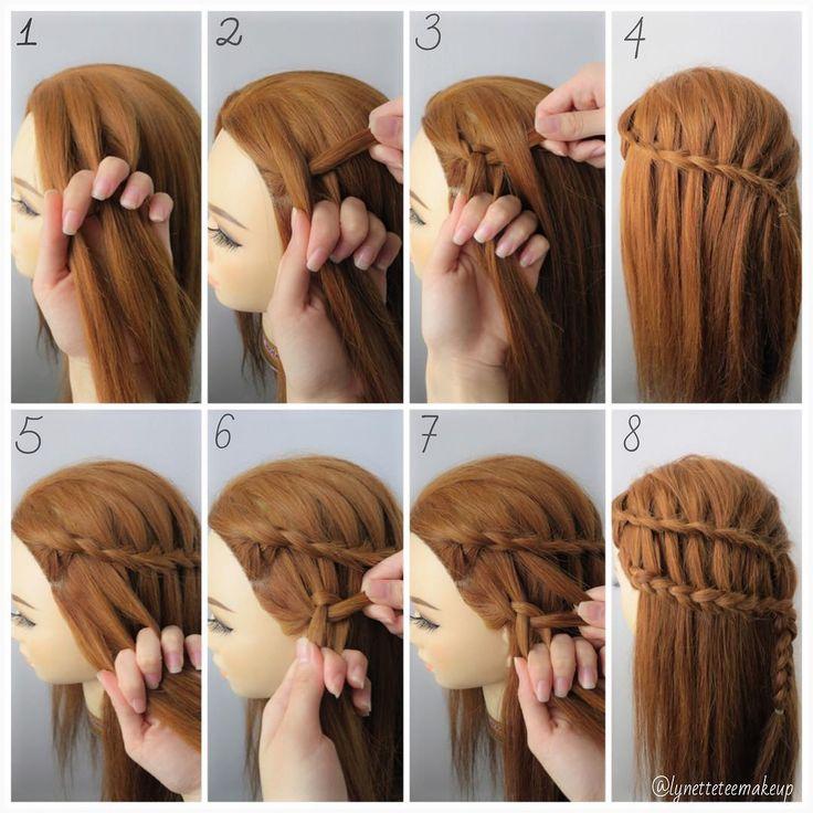 Διπλή πλεξούδα - καταρράκτης χτενίσματα για μακριά μαλλιά f6dab6e0b39