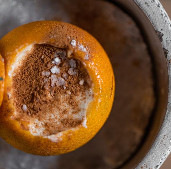 ρυζόγαλο-με-σορμπέ-πορτοκάλι-το-απόλ