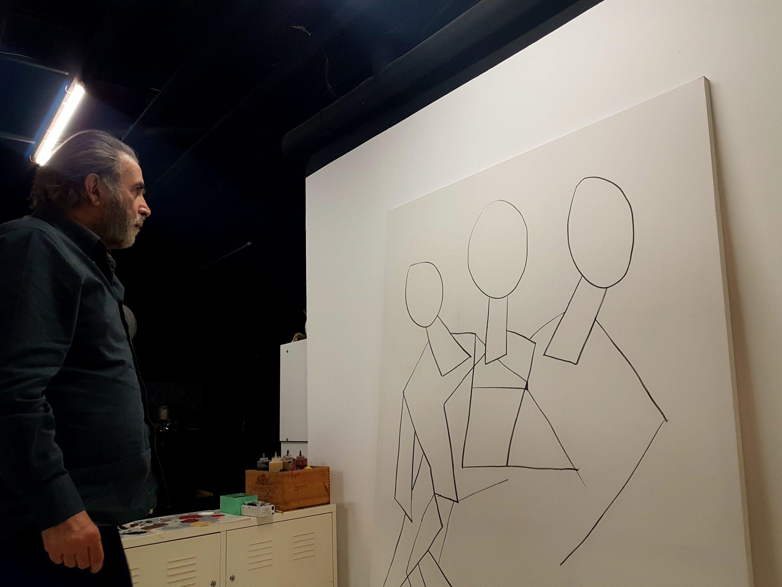 Ο Λάκης Λαζόπουλος ζωγραφίζει και κάνει την πρώτη του έκθεση