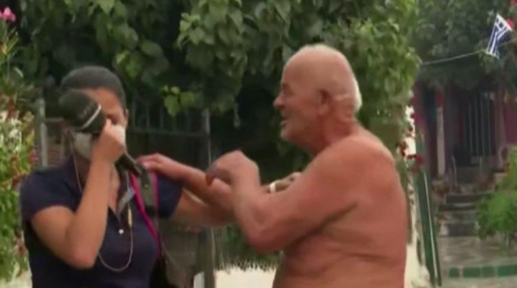 Η τηλεοπτική στιγμή που έκλαψαν όλοι: Η αγκαλιά και το κλάμα του ηλικιωμένου και της δημοσιογράφου του Open