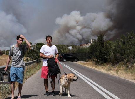 Φωτιά στην Βαρυμπόμπη: Δύσκολα τα πράγματα - Εκκενώνονται οικισμοί