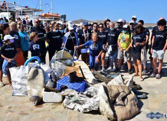 Περιβαλλοντική δράση στο εμβληματικό νησί της Δήλου – Μαζεύτηκαν πάνω από 1 τόνος απορρίμματα!