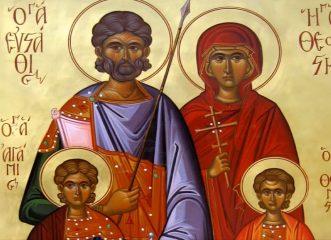 Ποιος είναι ο Άγιος Ευστάθιος που μαρτύρησε μαζί με την οικογένειά του για την πίστη τους στο Θεό!