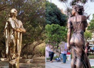 """Από την """"χρυσή"""" Μαρία Κάλλας, στις αγνώριστες Αλίκη και πριγκίπισσα Νταϊάνα - Αγάλματα που προκάλεσαν αντιδράσεις"""
