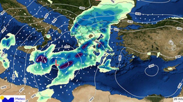 """Κακοκαιρία Μπάλλος: Ξεκινάει από απόψε η επέλαση - Ποιες περιοχές θα """"χτυπήσει"""""""